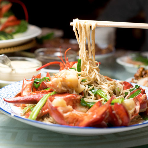 lobster country style with e fu noodles - Oriental Garden